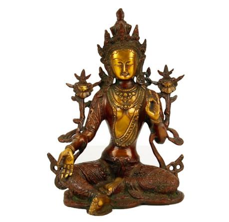Buddha Mudra der Lehre mit Mosaikdekoration 16 cm